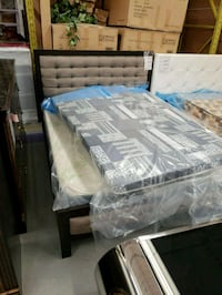 Brand new Tuftedback queen bed frame on sale  Toronto, M9W 1P6