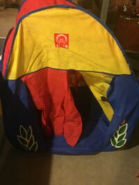 Pop up tent for kids.  Rocky View No. 44, T1Z 0A8