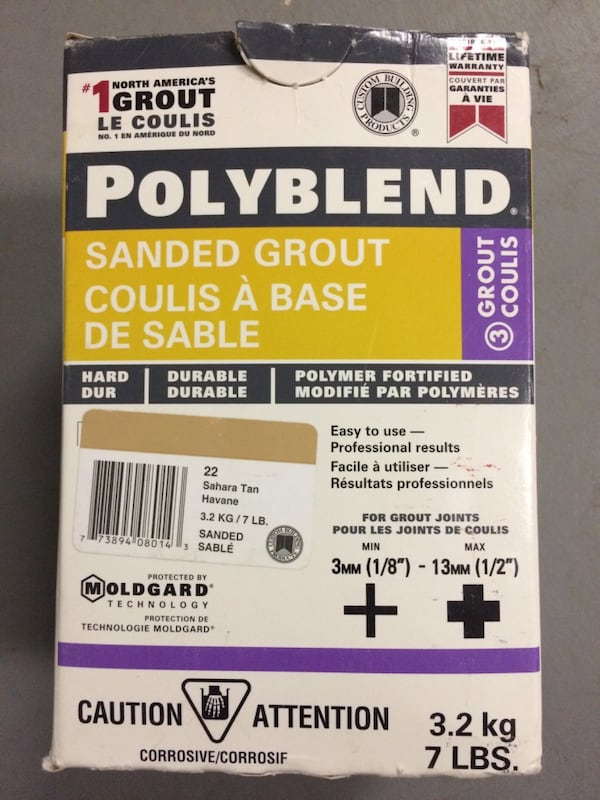 Tile Grout Sanded Unsanded Polyblend Retail it is $44 per box 160b56b9-4208-4e2e-ad1c-439d058a1073