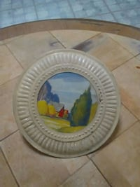 Vintage farm stove pipe cover Ashland, 17921