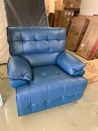 Navy blue electric power recliner chair with USB port real leather brand new big sale Jacksonville, 32216