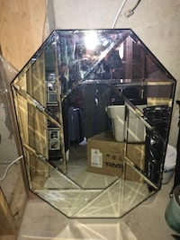 """Euc bevelled glass mirror 26x37"""" bought at Bombay (heavy mirror) Milton, L9T 6A9"""