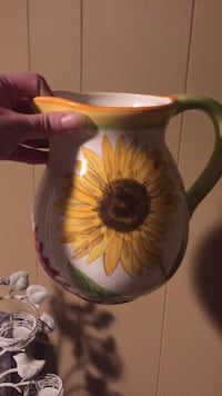 white and yellow floral ceramic pitcher Enfield, 06082