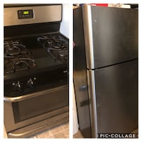 Stainless steel stove and fridge  Taylor, 48180