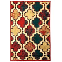 uperior Modern Viking Collection, Red Blue, 2' x 3 Toronto