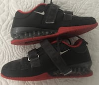 pair of black-and-red Nike basketball shoes Toronto, M4L 3P1