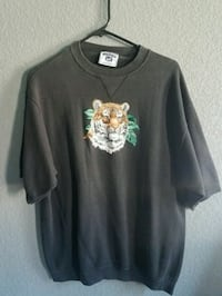 black and brown Lee tiger graphic crew-neck t-shirt
