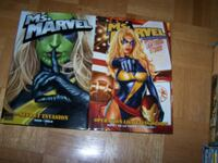 2- MS MARVEL graphic hardcover books by Brian Reed Vaughan