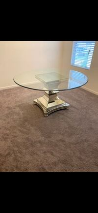 Round Glass Table Mount Holly, 28120