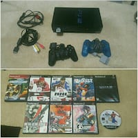 sony ps2 w/ games.