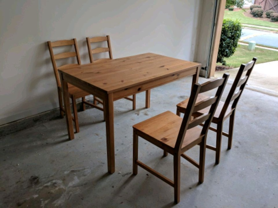 used ikea wooden dinning table and chairs for sale in suwanee letgo rh ca letgo com