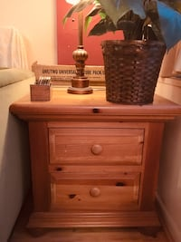 brown wooden 2-drawer nightstand Washington, 20037
