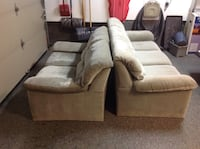 brown and white fabric sofa set Laval, H7N 2T9