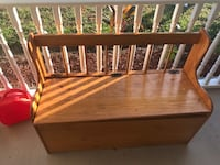 Brown wooden bench with storage Lehigh Acres, 33976