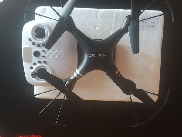 black HJHRC quadcopter drone