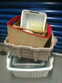 Laundry baskets plastic containers wicker basket o Hyattsville, 20784