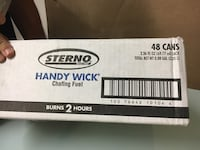 Sterno handy wick 2 hour burning cans/48 Mooresville, 28117