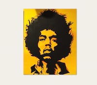 Black and yellow abstract Jimi Hendrix painting Glen Ellyn, 60137