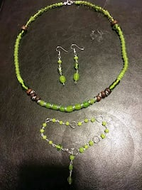 green beaded necklace and pair of earrings Woodbridge, 22193