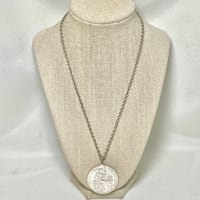 1895 Peruvian 90% Silver Coin Pendant with Sterling Silver Chain Ashburn, 20147
