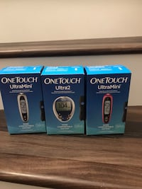 Middle one left only...One touch meter . Test your blood at your finger Sacramento, 95811