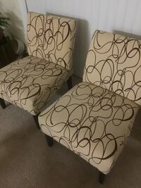 white and black floral padded chair Rockville, 20850
