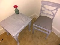 hand painted table and chair Charlotte, 28216
