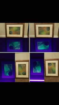 Blacklight original local painting gold clouds  Loveland, 80538