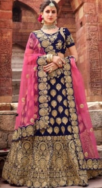 Gorgeous BRAND NEW Navy Blue Lengha Choli for Bridal or Party Wear! Very heavy Indian outfit Brampton, L6Z