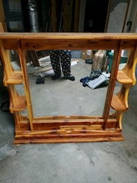 Cedar mirror for chest of drawers