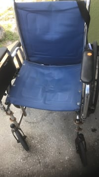blue and black wheelchair with black metal base Deltona, 32738