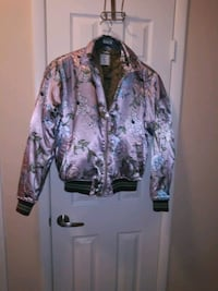 brown and green floral zip-up jacket Los Angeles, 91343