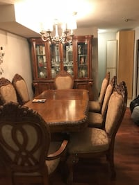 Brown wooden dining table set Toronto, M9C