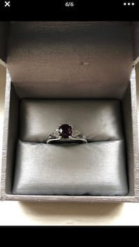 Beautiful sterling silver size 6 ring with gorgeous gemstones Philadelphia, 19115