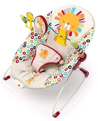 Baby bouncer with toy bar and vibration Saint Petersburg