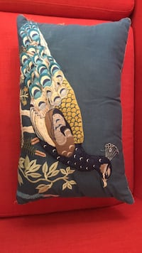 Peacock accessory pillow from Anthropologie  Los Angeles, 90029