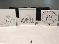 Custom made signs approximately 5x5 Hobbs, 88240