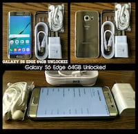 Gold Galaxy S6 Edge 64GB UNLOCKED w/ Accessories  Arlington