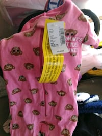 baby's pink and white footie pajama Germantown, 20874