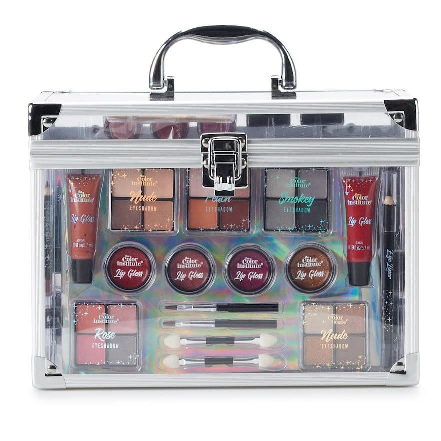 The Color Institute Color Delights Train Case Makeup Collection