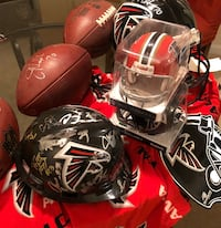 Authentic Falcons gear, given & signed by Falcons players  Atlanta