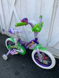 """Huffy Disney Tinker Bell 14"""" Girls bicycle with training wheels age3-6"""