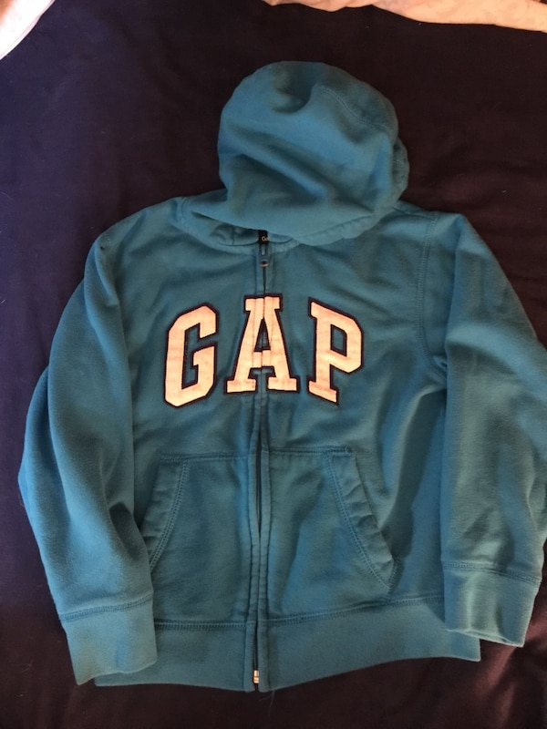 blue GAP hoodie zip up jacket