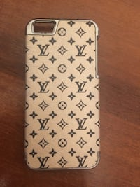 Браун Louis Vuitton монограмма случае iPhone