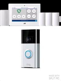 ADT Newest High Tech Controll Panel with Ring 2 Doorbell, Free install Oaklyn, 08107