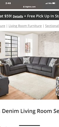 Gray Sectional in good condition