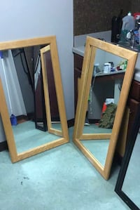 brown wooden framed wall mirror Fort Myer, 22211