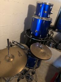 blue and black drum set East Point, 30344