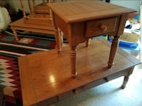 brown wooden single-drawer end table Ashburn