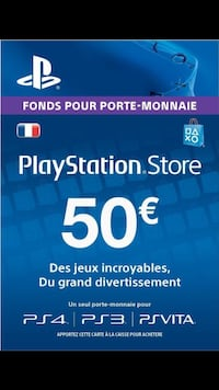 Playstation Store 50 carte Champs-sur-Marne, 77420